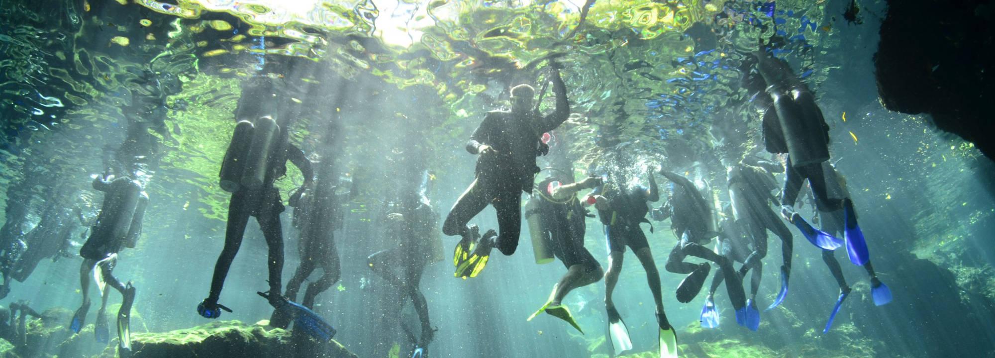 mergulho em cavernas